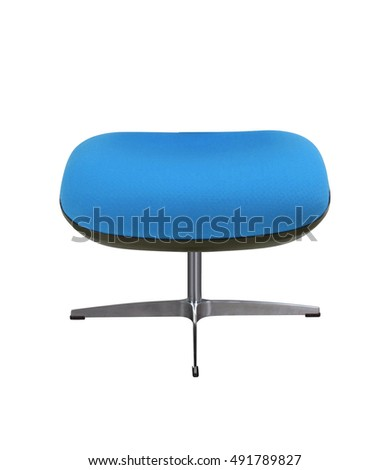 blue stool isolated on white