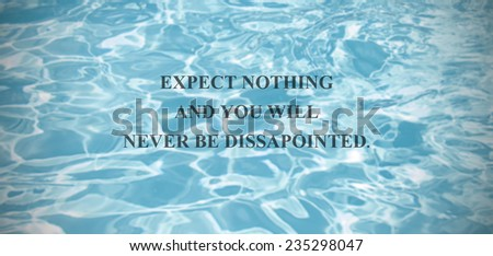 Inspirational Quote On Scenic Summer Blue Stock Photo