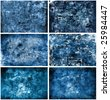 Blue Texture Background Set - stock photo
