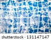 blue tile in the swimming(Abstract background) - stock photo