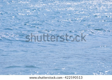 Blue waves on ocean surface background