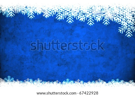 Blue winter background, useful as Christmas background with space for text or image