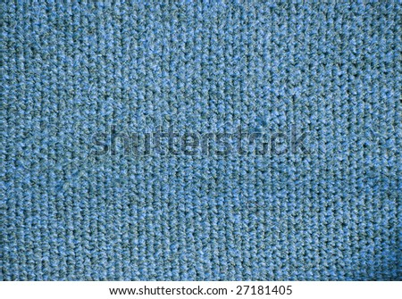Blue wool handmade background