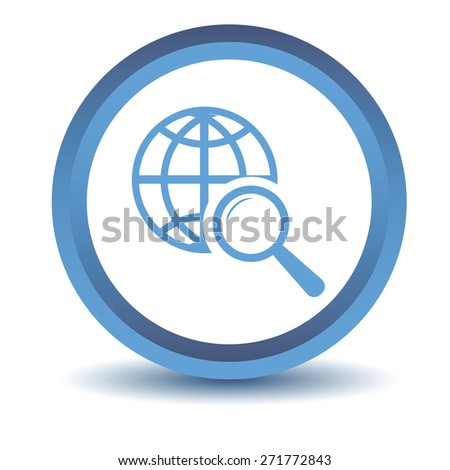Blue World scan icon on a white background