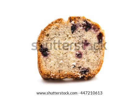 blueberry pie on a white background