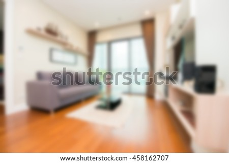 Blur abstract  livingroom decoration interior for background