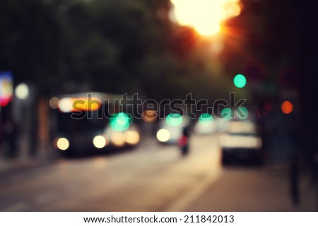 blur city sunrise abstract background