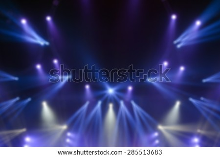blur image of Stage lights