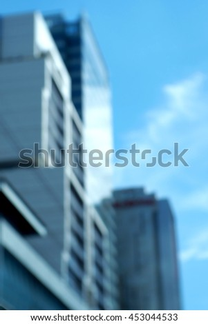 Blurred abstract background of building