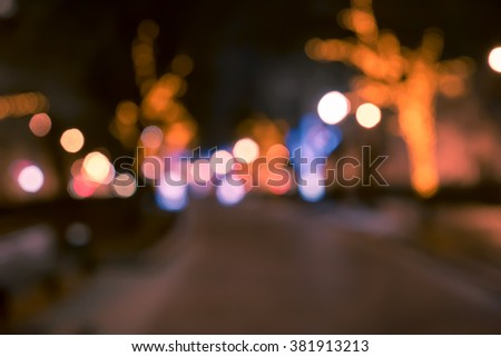 Blurred background, defocused photo of colorful lights