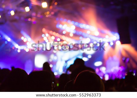 Blurred background of concert