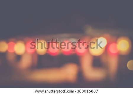 blurred city lights in the night, bokeh background, abstract background