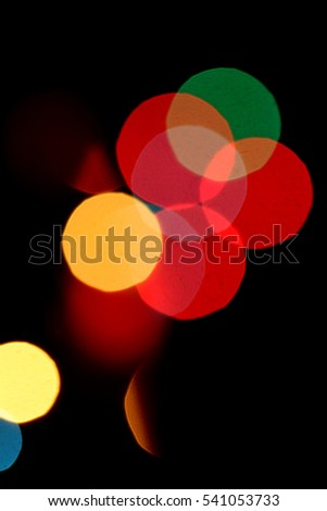 blurred colorful background bokeh lights