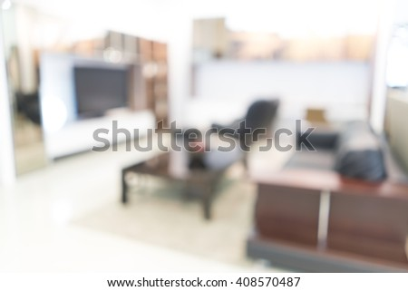 Blurred image of Living room for background uses