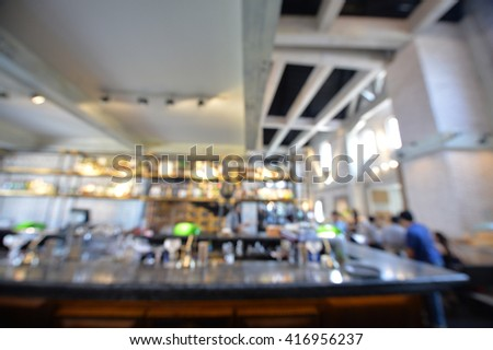 Blurry image of a cafeshop interrior