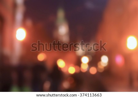 blurry reflections of light, street, lights out of focus, blurred for background