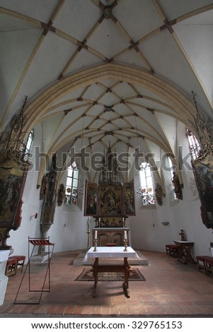 BLUTENBURG, GERMANY 2 JUL 2011 : Palace Chapel of Blutenburg, in Munich, Germany.