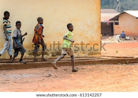 Girls Carrying Water Container Africa Boa Stock Photo