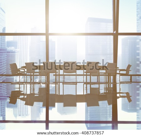 Board Room Meeting Conference Table Office Concept