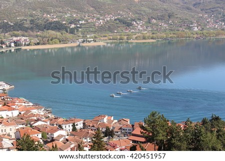 Boat Formation Ohrid Lake