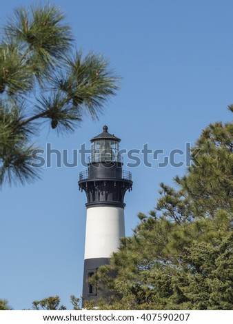 Bodie Island Lighthouse on the Outer Banks of North Carolina.