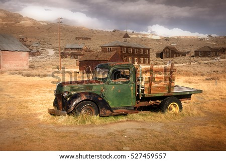 Bodie- October 3 :Bodie is a mining camp  from a gold rush era in 1859 situated  in the Bodie Hills east of the Sierra Nevada mountains in Bodie historic state park on Oct 3, 2016.