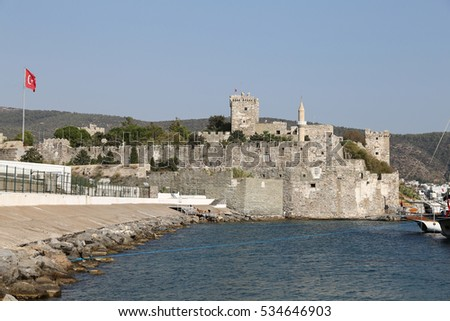 Bodrum Castle in Aegean Coast of Turkey