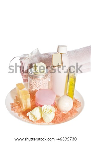Bodycare products isolated on white.