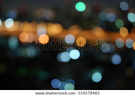 Bokeh art light Abstract