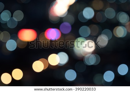 Bokeh of the city at night