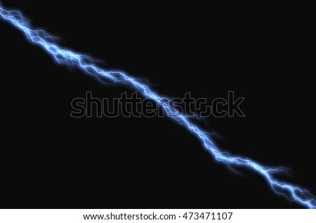 Bolts of lightning extend horizontally across