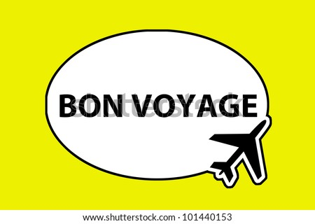 bon voyage - airplane sign