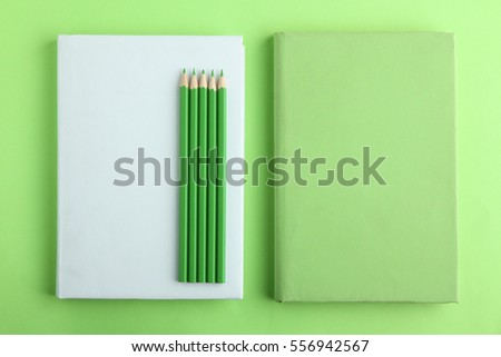books pencils in color green - Books About The Color Green