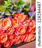 boquet of beautiful roses - stock photo
