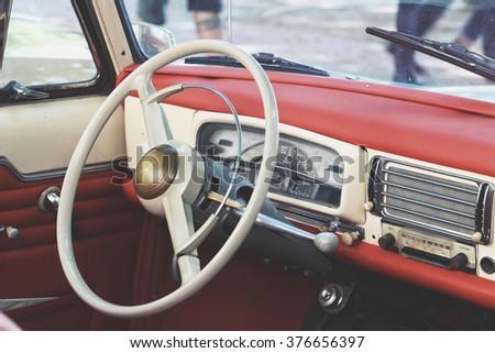 vintage mercedesbenz german car dashboard wheel stock photo 583427 shutterstock. Black Bedroom Furniture Sets. Home Design Ideas