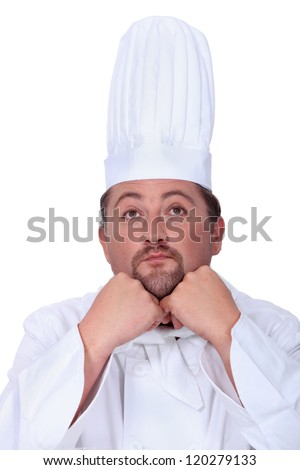 Bored male chef
