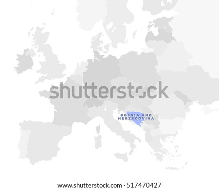 Belgium location modern detailed map all vectores en stock 438238621 bosnia and herzegovina location modern detailed map all european countries without names template of gumiabroncs Images