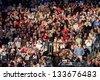 BOSTON - OCTOBER 16: Television camerman at Gillette Stadium, New England Patriots vs. the Dallas Cowboys on October 16, 2011 in Foxborough, Boston, MA - stock photo