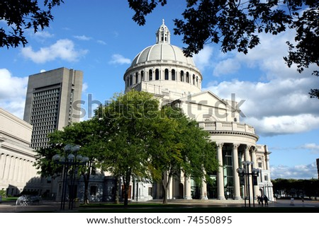 Boston's Christian Science church and Prudential building and the architecture around