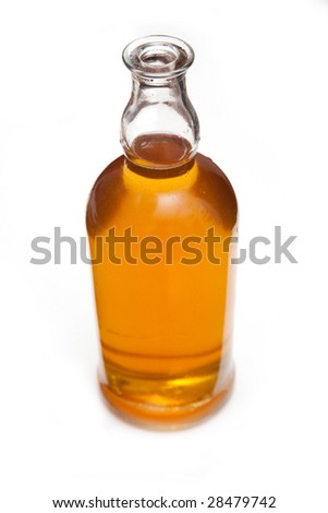 Small Bottle Maple Syrup Maple Leaves Stock Photo 4426096