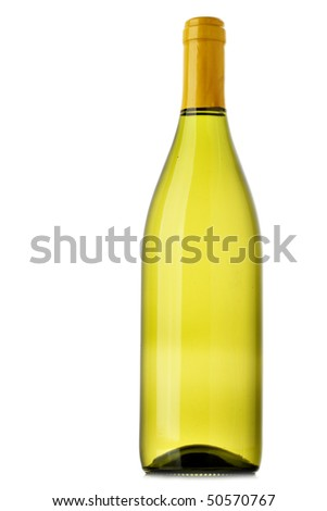 Bottle of wine isolated over white background