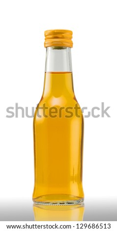 Bottles of orange juice on white background (with clipping path)