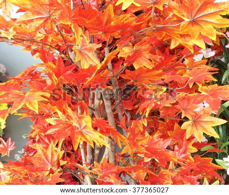 Bouquet artificial maple