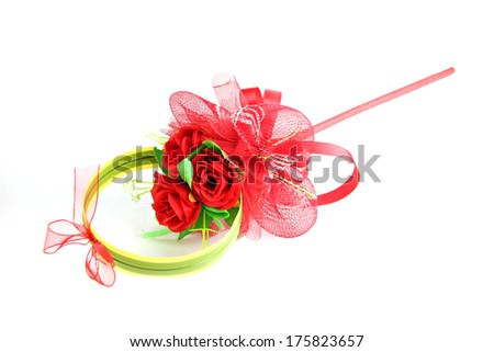 Bouquet of red rose isolated on white background.
