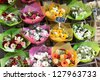Bouquets at flower market in France - stock