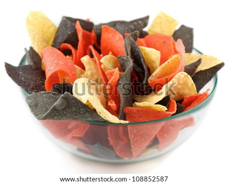 bowl of chips mexican style mexican style bowl of colored