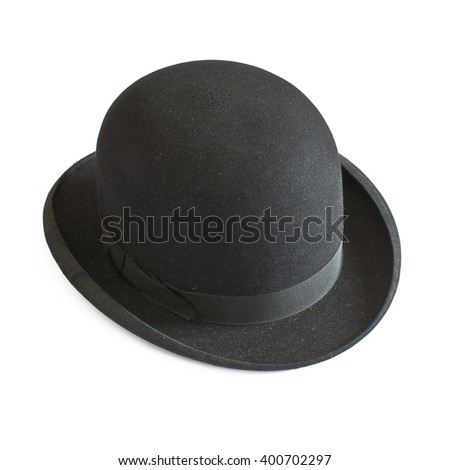 Bowler hat on white