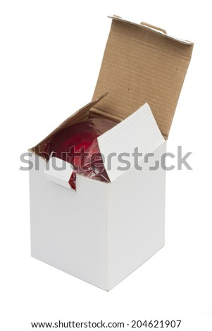 box on the white background