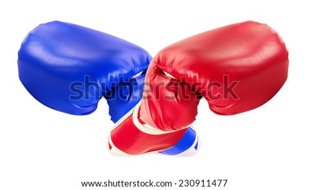 boxing gloves isolated on the white background