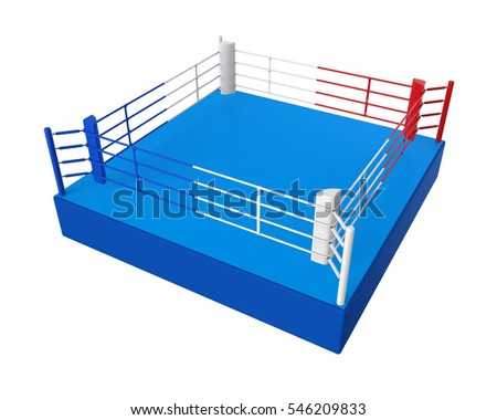 Boxing Ring Isolated. 3D rendering